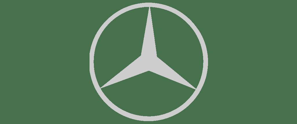 mercedes benz logotipas pilkas