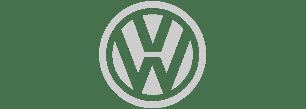 volkswagen logotipas pilkas